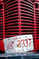 """Fire engine front grill detail"""