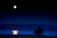 Moonrise over Yellowstone Lake